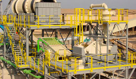Limestone rock washing plant