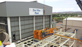 Lead and zinc concentrate filtration plant