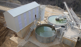 Filtration plant for quarry sludge