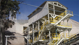 Limestone washing plant