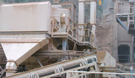 Primary limestone aggregate crushing plant