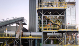 Drying plant for manufacturing dry mortar sands