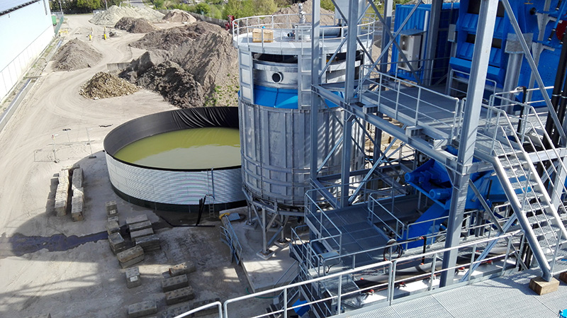 Usine de traitement des sols contaminés
