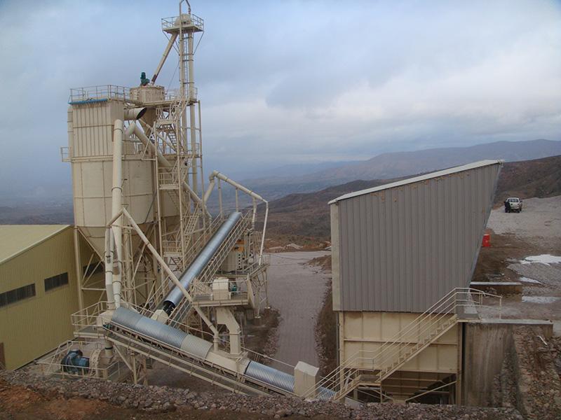 Planta de tratamiento de dolomía para la producción de arenas