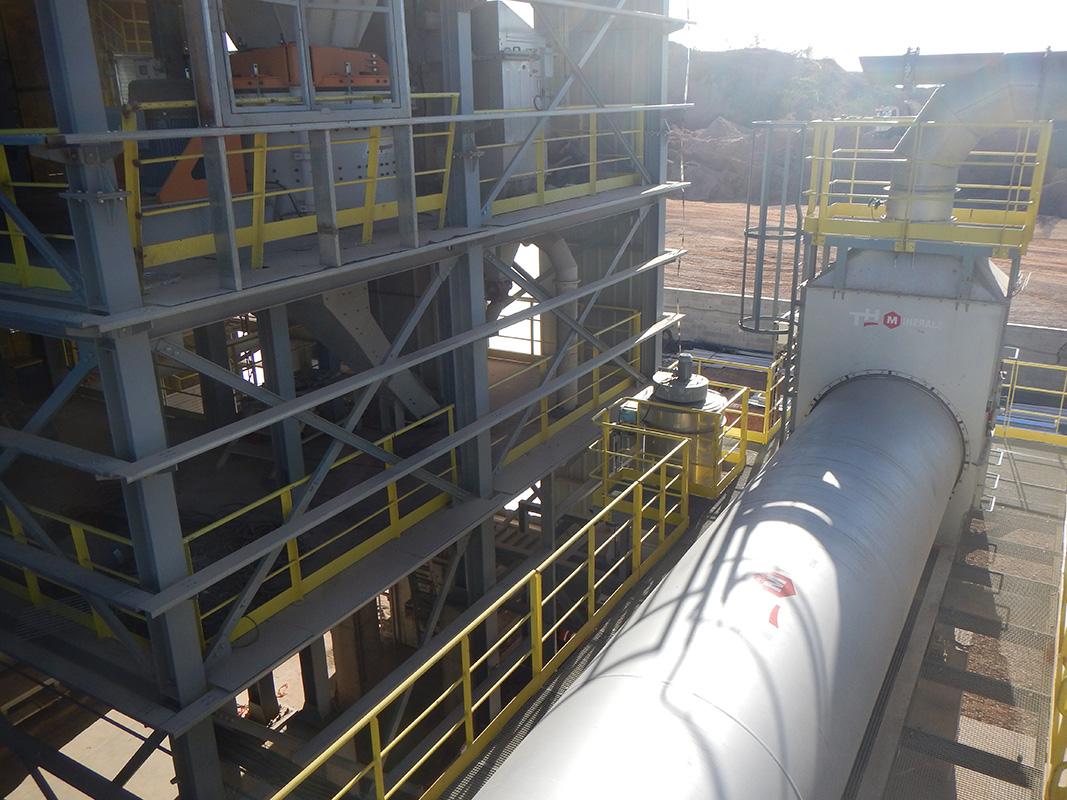 Installation de séchage pour usine de mortier